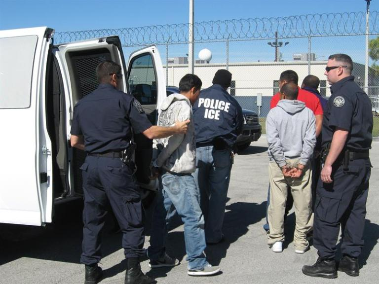 """Immigrants protest at ICE office in Florida for """"silent raids"""""""