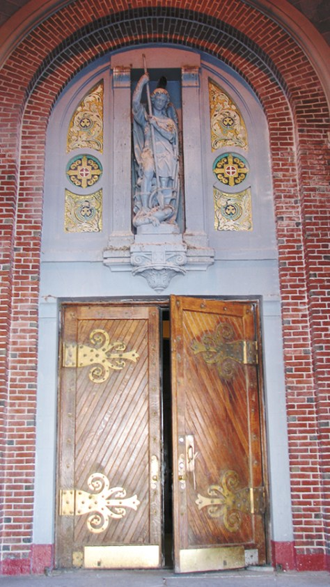 Photo:  Main Entrance to St. Michael Church in  Sunset Park, Brooklyn