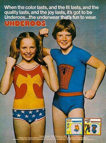 Image:  Old Underoos Ad