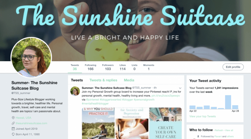 The Sunshine Suitcase on Twitter