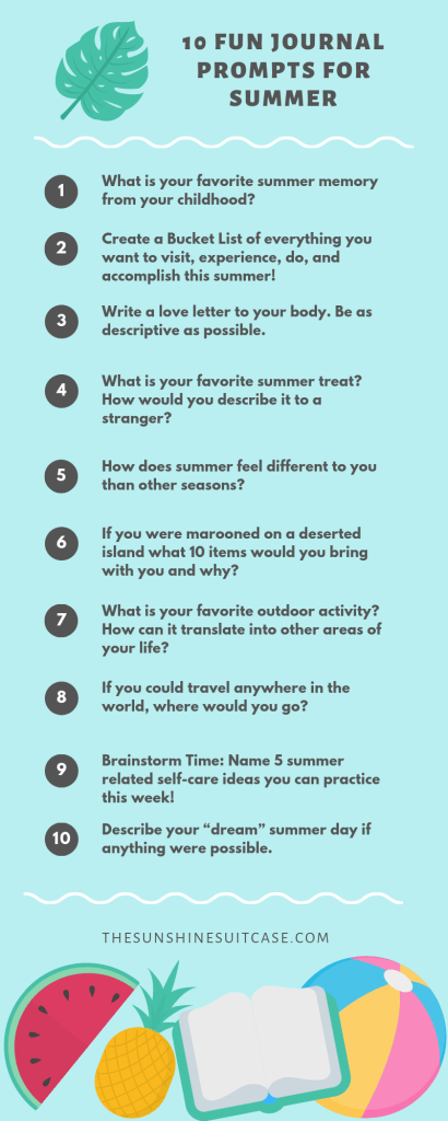 Fun Journal Prompts for Summer