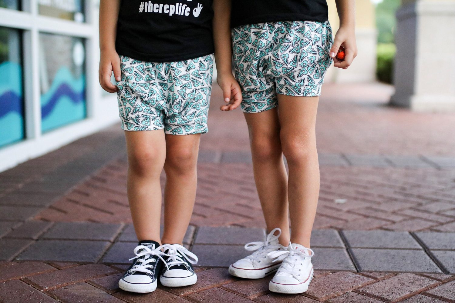 Shorts: My Littlest 1, Shoes: Converse