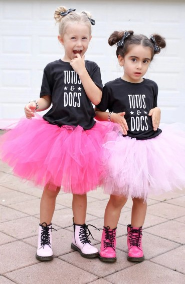 Bows: iBetterAccessorize, Tees: Rok Threadz, Bracelets: Bubble Chic Chick, Tutus: Tutus 4 Tots Co, Boots: Dr. Martens