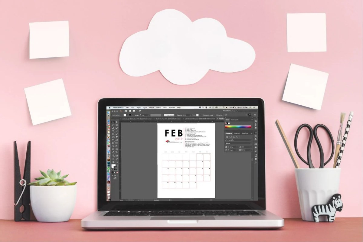Free Printable Editorial Calendar for Bloggers - First Quarter 2019