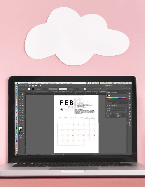 Free Printable Editorial Calendar for Bloggers – First Quarter 2019