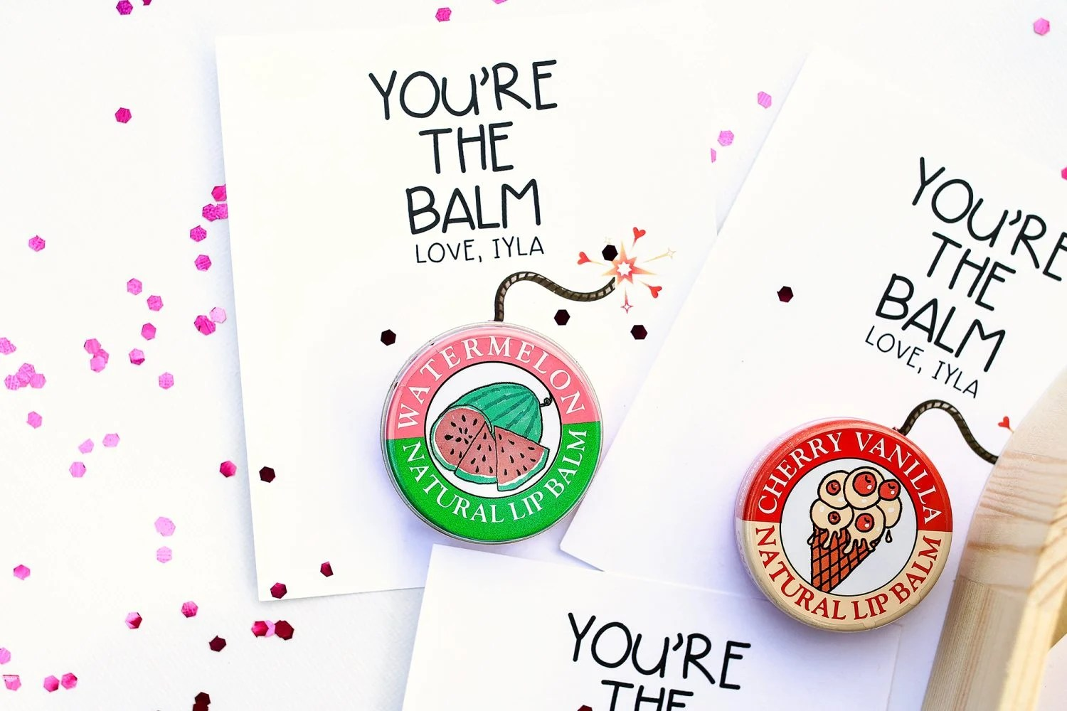 photograph relating to You're the Balm Free Printable identified as Youre the Balm Valentine for Young children Additionally Totally free Printable - The