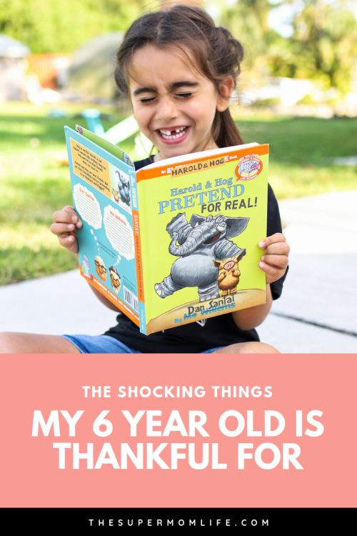 We were expecting her to say applesauce, wi-fi and surprise eggs. We didn't expect her to say these things. #sponsored #ReadMoWillems #Thankorama