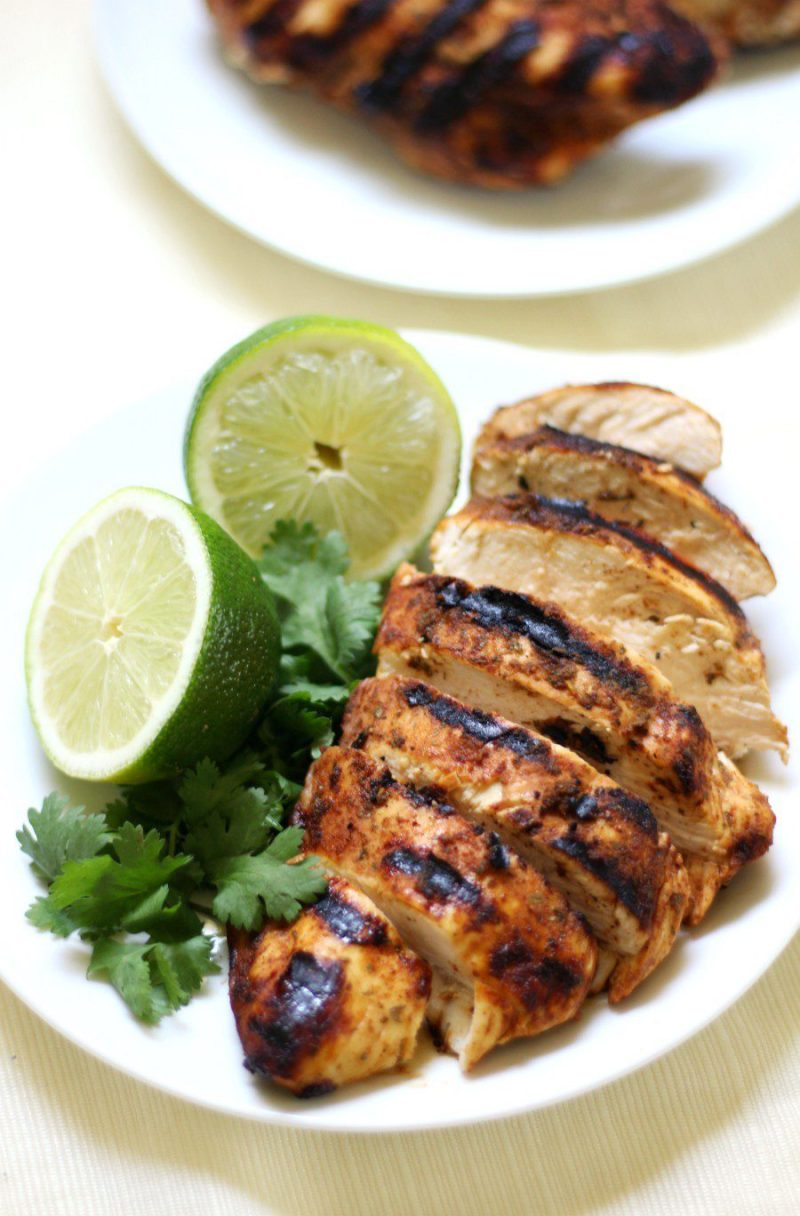 Grilled Chili Lime Chicken Recipe by Rebecca at Strength and Sunshine