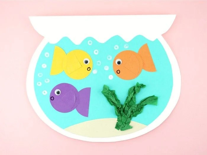 fish bowl summer craft idea for kids