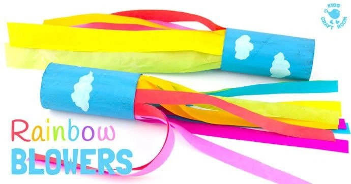 rainbow blowers summer craft idea for kids