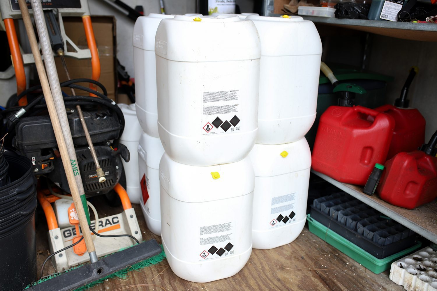 gas containers full for hurricane dorian