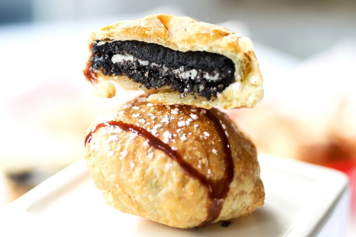 stack of air fried oreos