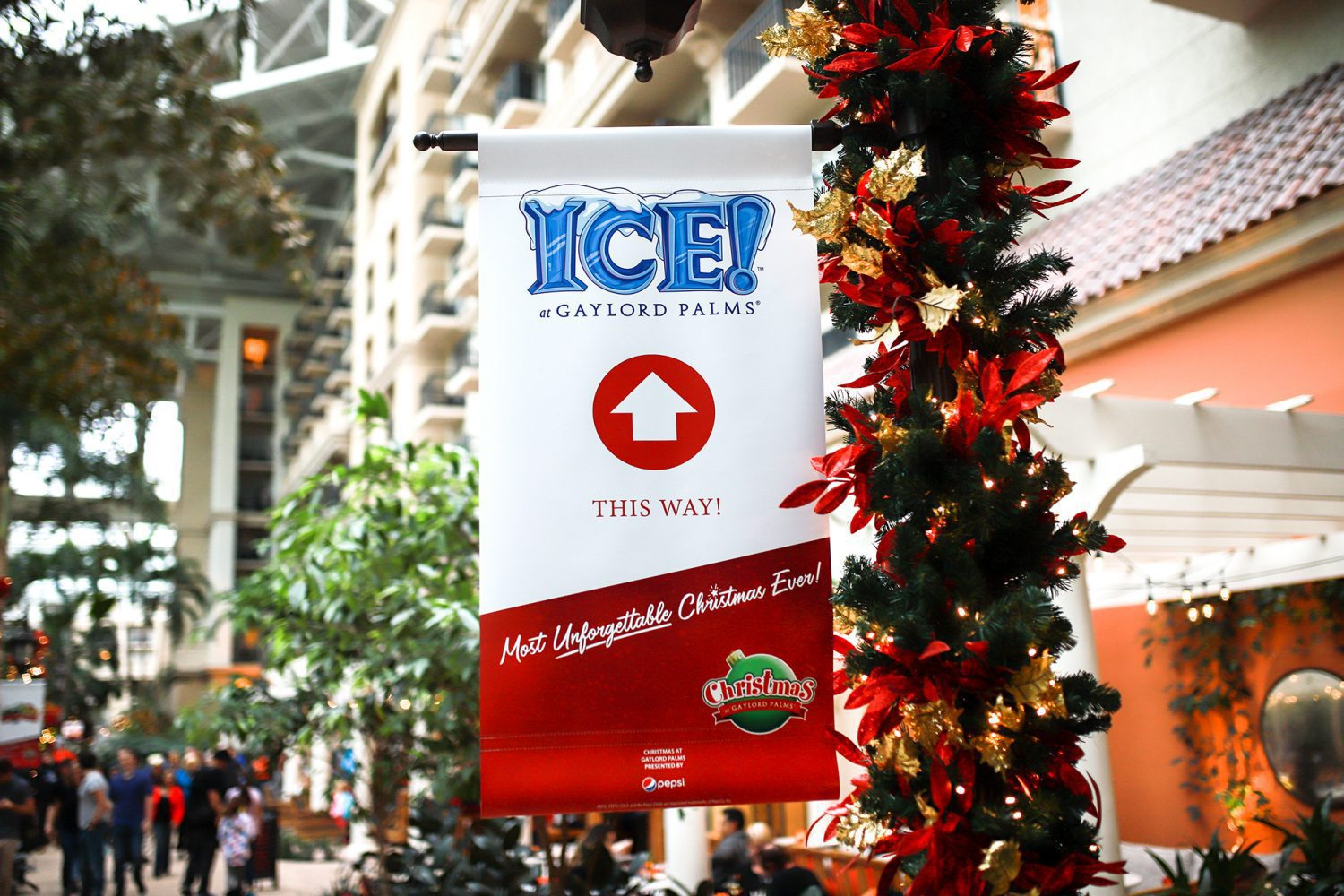 ICE! Sign inside of Gaylord Palms