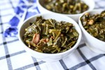 bowls of homemade collard greens