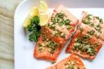 Plate of homemade salmon