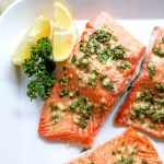 Plate of homemade salmon