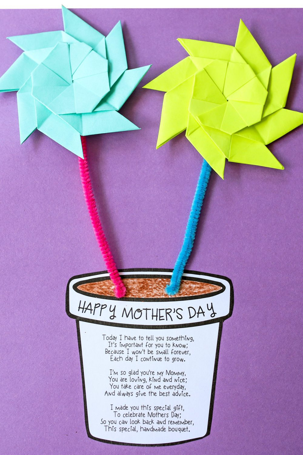 Mother's Day flower pot craft idea
