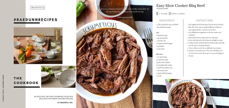 Rae Dunn Recipes Cookbook BBQ beef