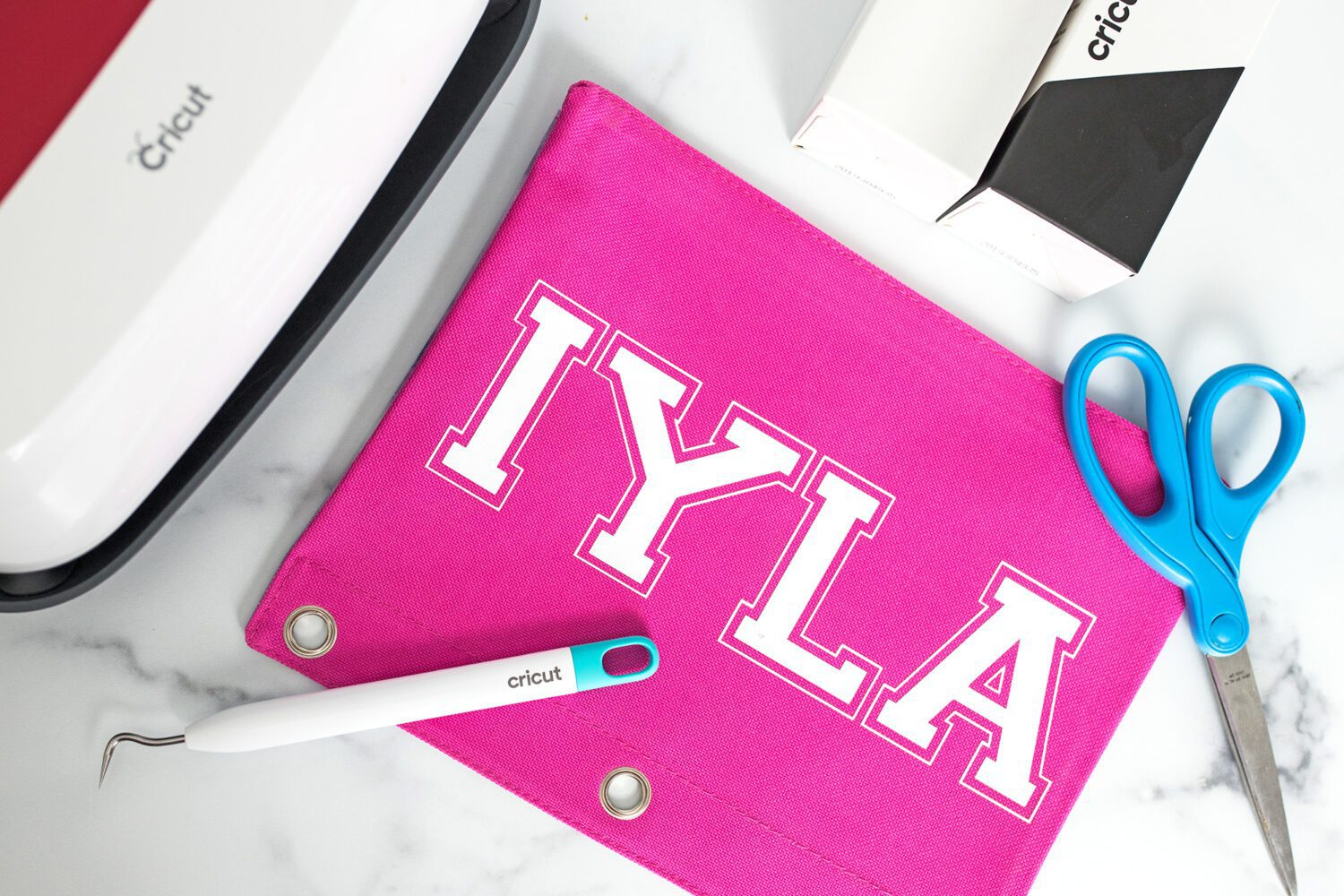 supplies you need to create a personalized pencil pouch