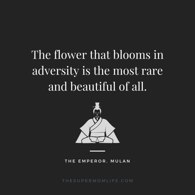 The flower that blooms in adversity is the most rare and beautiful of all.