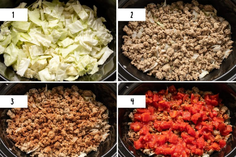 step by step photos for slow cooker hungarian stuffed cabbage casserole