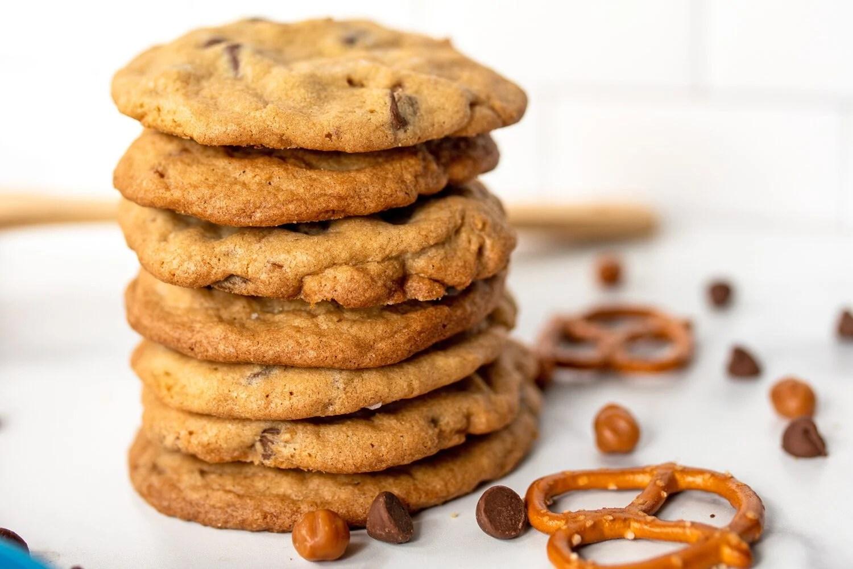 stack of panera kitchen sink copycat cookies