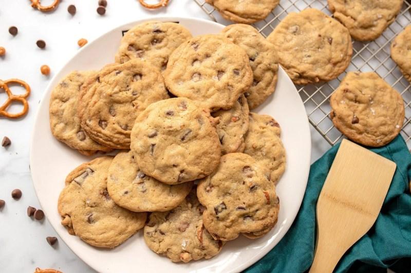plate full of fresh homemade cookies