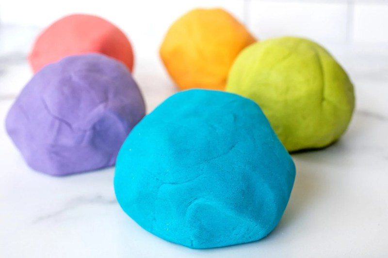 homemade play dough balls