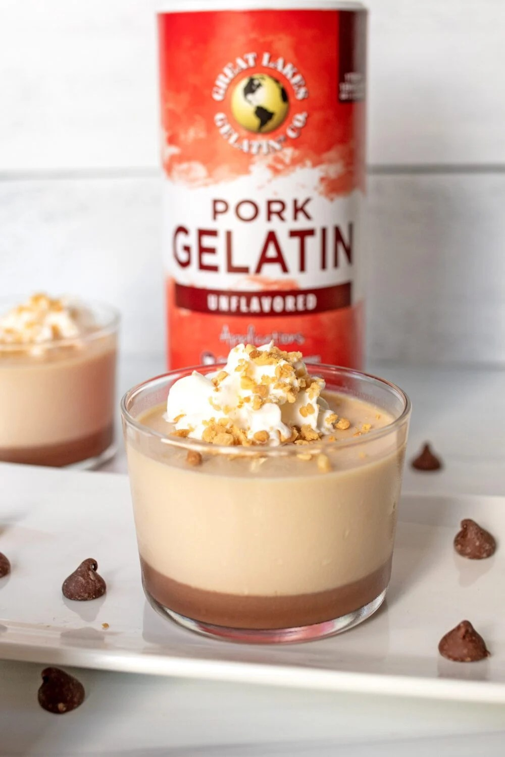 panna cotta made with great lakes gelatin