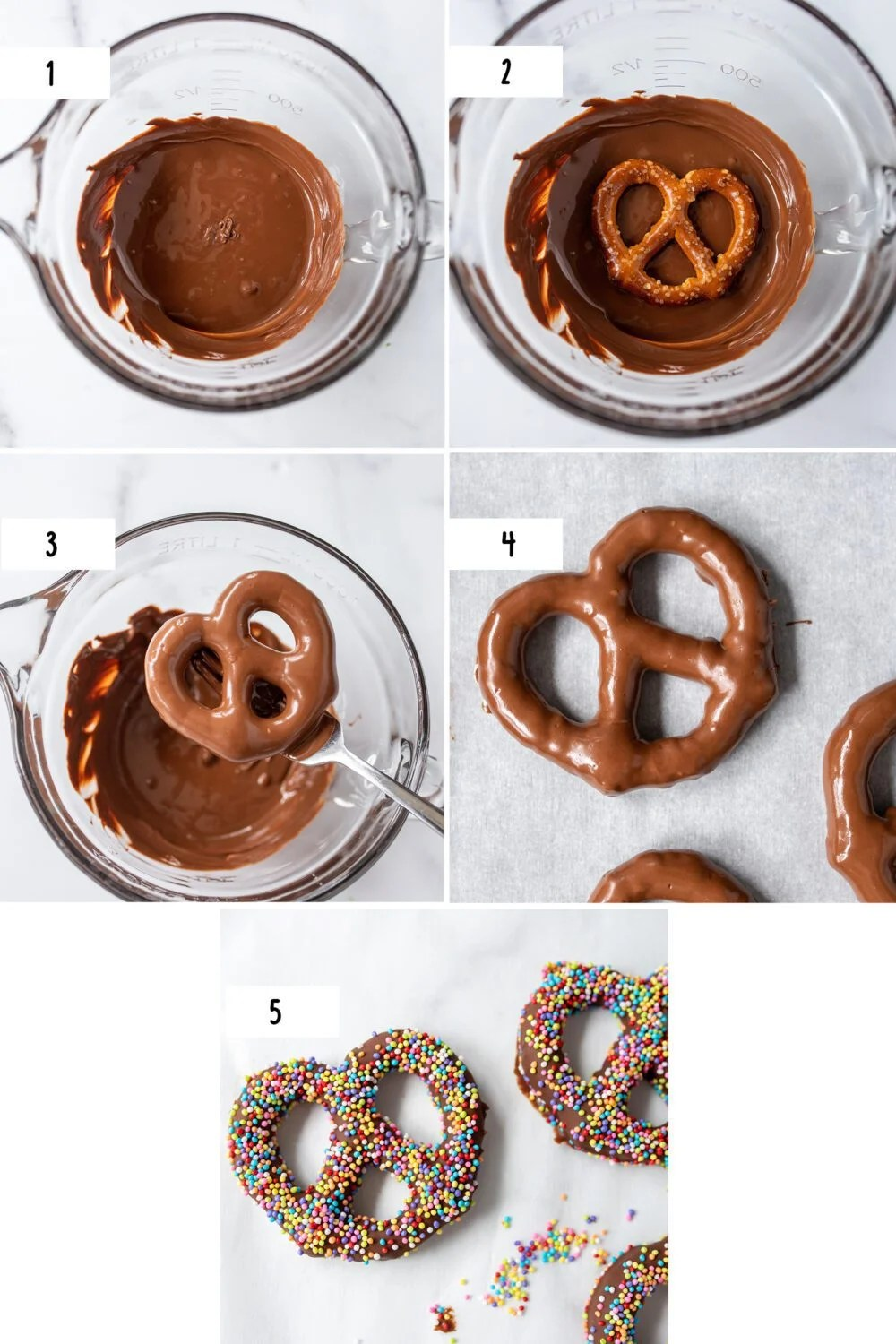 steps how to make chocolate covered pretzels