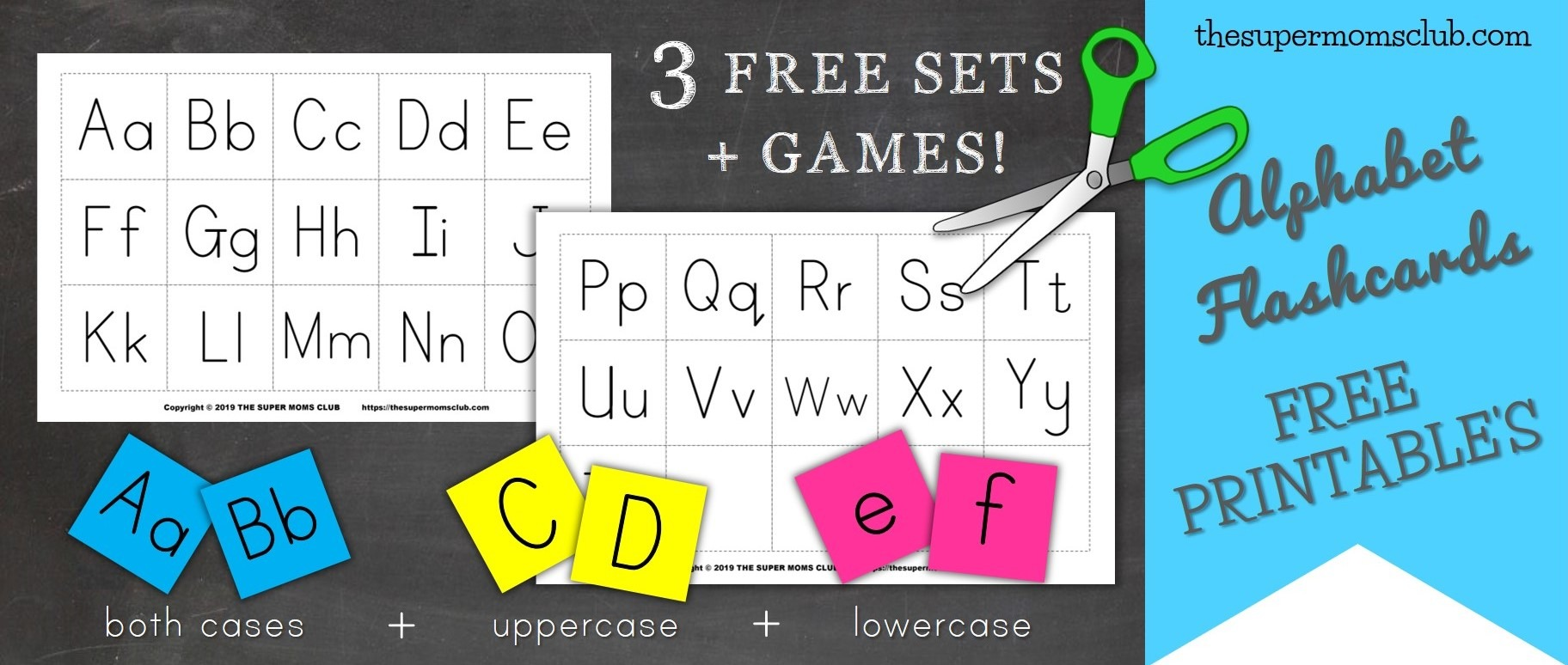 picture relating to Free Printable Abc Flashcards named Free of charge Printable Alphabet Flashcards - The Tremendous Mothers Club