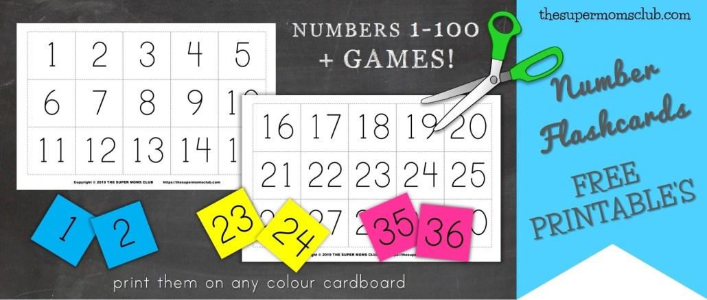 Free Printable Number Flashcards - thesupermomsclub.com