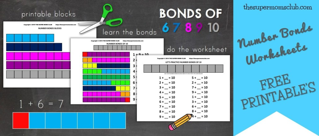 Number Bonds To 10 + FREE Worksheets - thesupermomsclub.com
