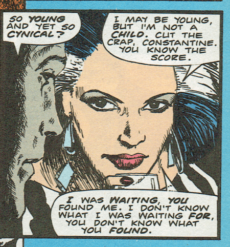Zed in Hellblazer #4. 1988