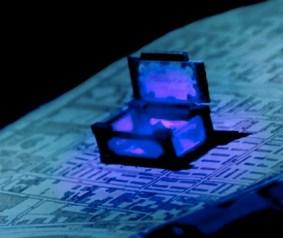 Glass black diamond box