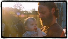 Rick Judith the distance the walking dead