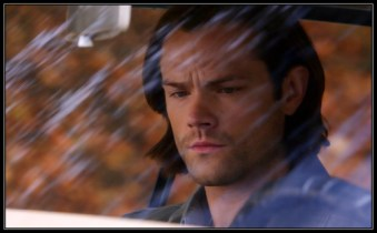 """Sam reads up on Charlie's file in the Impala. Supernatural Season 10 Episode 11 """"There's No Place Like Home"""""""