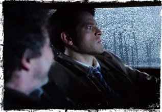 Castiel driving Metatron Supernatural Book of the Damned