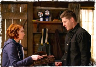 Charlie shows Dean book Supernatural The Book of the Damned