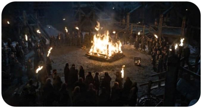 Mance Rayder dies from Jon Snow's arrow