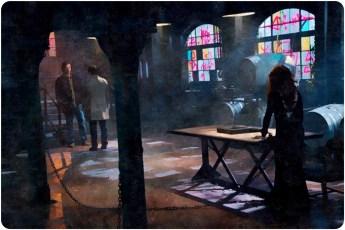 Sam Cas Rowena windows Supernatural The Prisoner