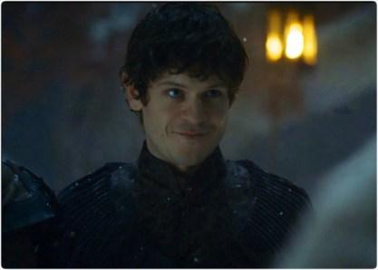 Ramsey smiles Game of Thrones Unbowed Unbent Unbroken