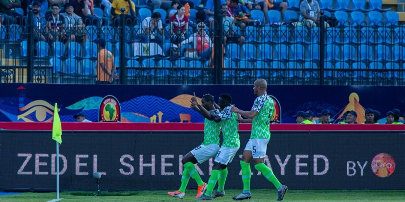 Odion Ighalo celebrates his goal against Cameroon