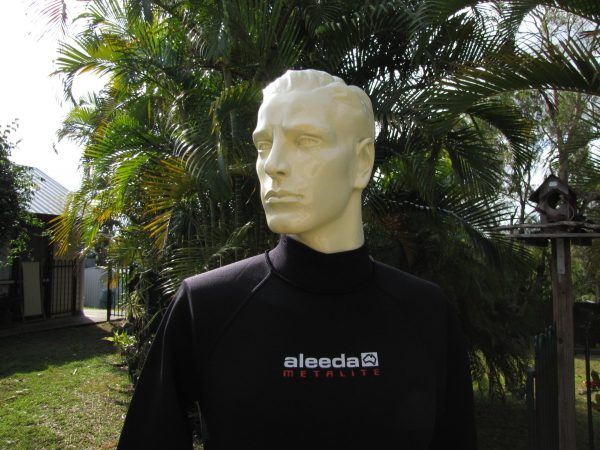 Aleeda Long Sleeve Metalite Top upper view