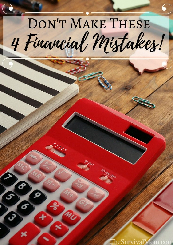 common financial mistakes