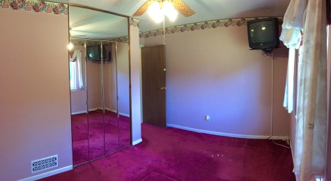 Master Bedroom (Panoramic photo, walls may appear curved)