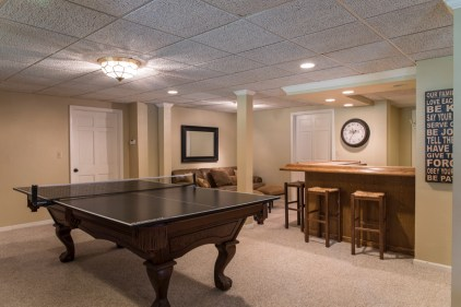 Wet bar in basement