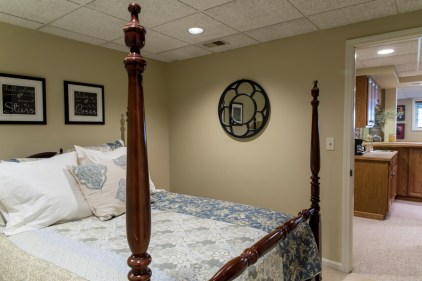 5th bedroom in basement