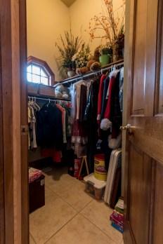 Entryway walk in coat closet