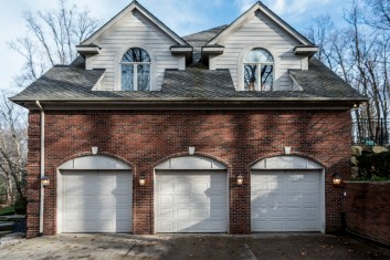 3 car garage with included lift
